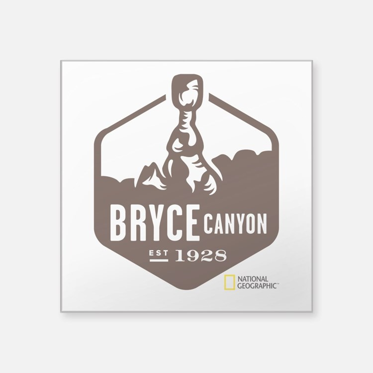 "Bryce Canyon Square Sticker 3"" x 3"""