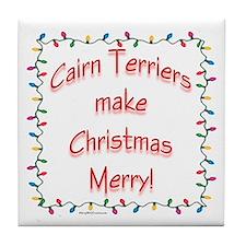 Merry Cairn Tile Coaster