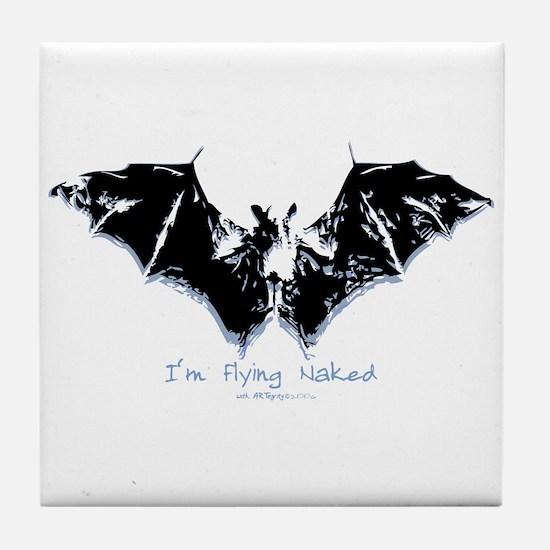 I'm Flying Naked Tile Coaster