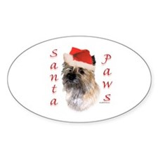 Cairn Paws Oval Decal