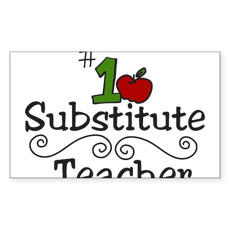 Substitute Teacher Sticker (Rectangle)
