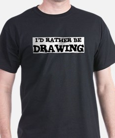 Rather be Drawing Ash Grey T-Shirt