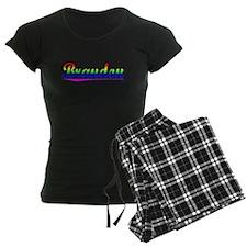 Brandon, Rainbow, pajamas