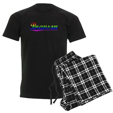 Branson, Rainbow, Men's Dark Pajamas