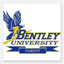 """BENTLEY UNIVERSITY PARENT Square Car Magnet 3"""" x 3"""
