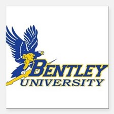 "BENTLEY UNIVERSITY Square Car Magnet 3"" x 3"""