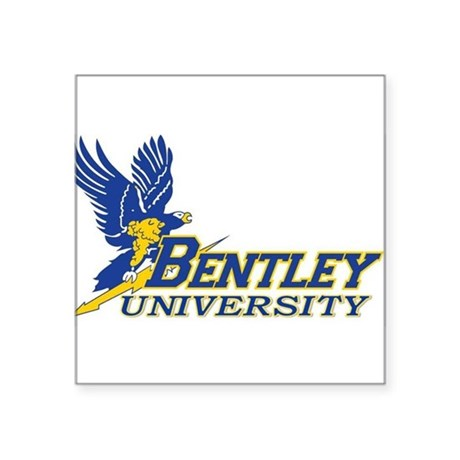 "BENTLEY UNIVERSITY Square Sticker 3"" x 3"""