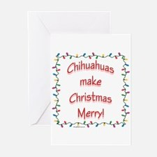Chihuahua Merry Greeting Cards (Pk of 10)