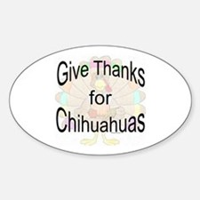 Thanks for Chihuahua Oval Decal