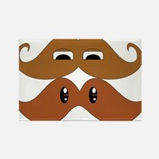 Stache on Stache Rectangle Magnet