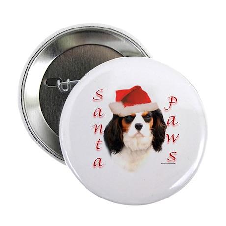 Santa Paws Cavalier Button