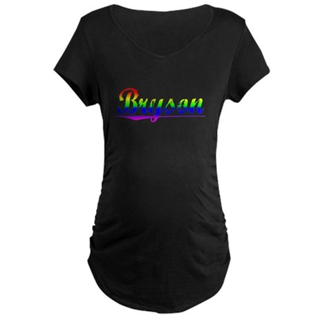 Bryson, Rainbow, Maternity Dark T-Shirt