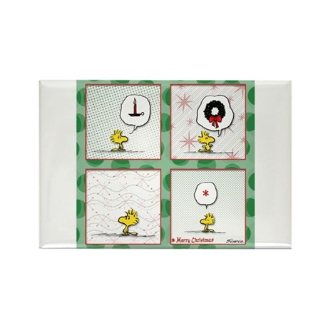 A Very Woodstock Christmas Rectangle Magnet