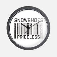 Snowshoes Priceless Wall Clock