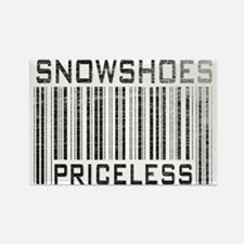 Snowshoes Priceless Rectangle Magnet