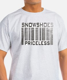 Snowshoes Priceless Ash Grey T-Shirt