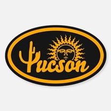 Tucson Desert Circle Sticker (Oval)