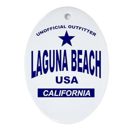 Laguna Beach Oval Ornament