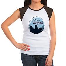 3-Run_Wolves.png Women's Cap Sleeve T-Shirt