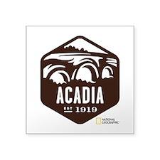 "Acadia Square Sticker 3"" x 3"""
