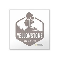 "Yellowstone Square Sticker 3"" x 3"""