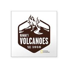 "Hawai'i Volcanoes Square Sticker 3"" x 3"""