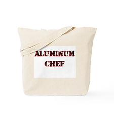 Aluminum Chef Iron Parody TV Tote Bag