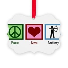 Peace Love Archery Ornament