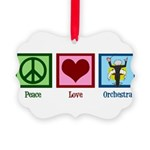 Peace Love Orchestra Picture Ornament