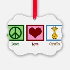 Peace Love Giraffes Ornament