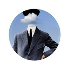 """Head In The Clouds 3.5"""" Button"""