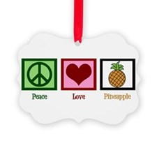 Peace Love Pineapple Ornament