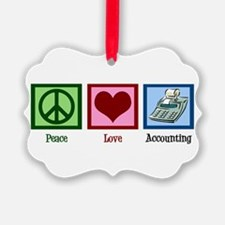 Peace Love Accounting Ornament