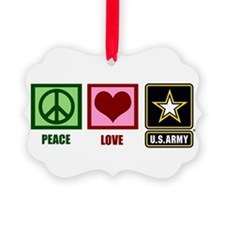 Peace Love Army Ornament
