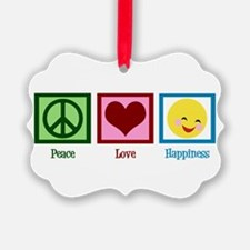 Peace Love Happiness Ornament