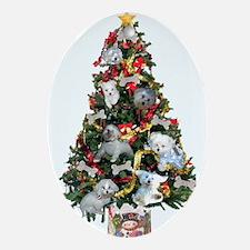 Santa paws Oval Ornament