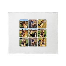 Dog Park Set of 9 Throw Blanket