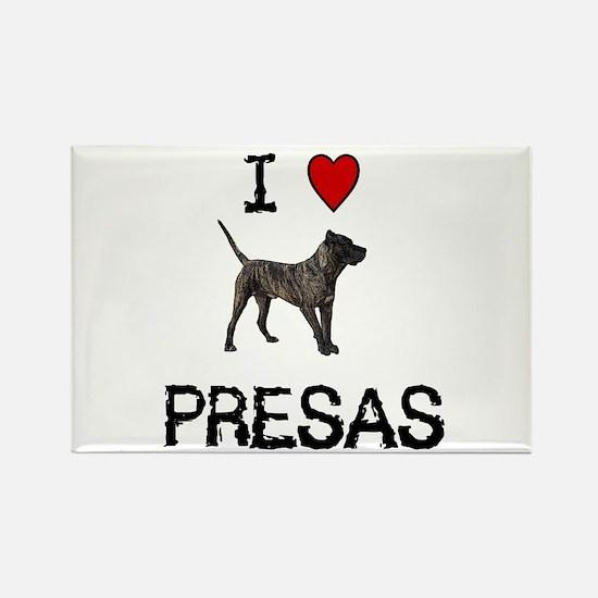 I love Presas Rectangle Magnet