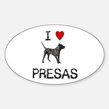 I love Presas Oval Decal