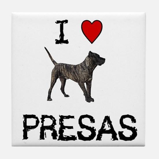 I love Presas Tile Coaster