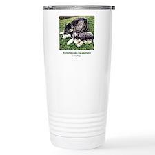 Snow Dog with Mimi Me Travel Coffee Mug