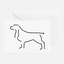 Field Spaniel Sketch Greeting Card