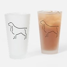 Field Spaniel Sketch Drinking Glass