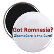 "Got Romnesia? ObamaCare is the Cure! 2.25"" Magnet"
