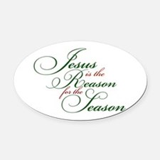 Jesus is the Reason Oval Car Magnet