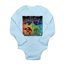 Mirrored cat image 6 Long Sleeve Infant Bodysuit