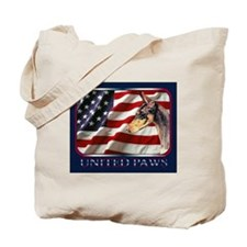Doberman Pinscher Dobie Flag US Tote Bag