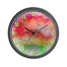 Cute Red abstract art Wall Clock