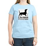 Low Rider - Dachshund Women's Pink T-Shirt