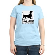Low Rider - Dachshund Women's Pink T-Shirt